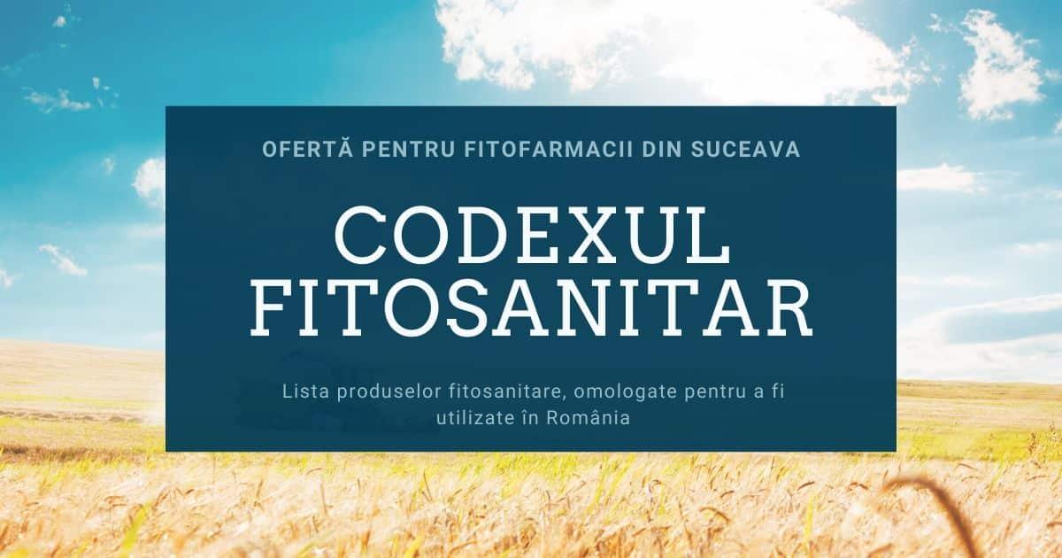 Oferta codex fitosanitar pentru magazin agricol sau fitofarmacie din Suceava